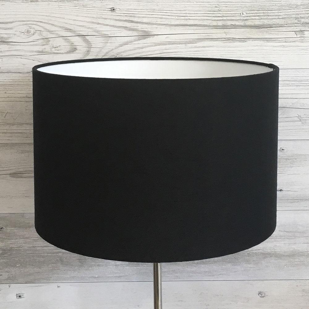 Drum Black Table Lampshade